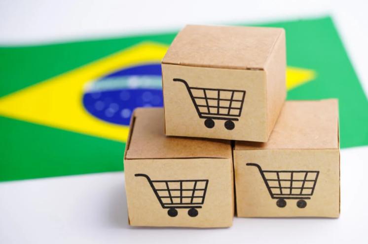 Caixas de um marketplace para simbolizar compra nacional