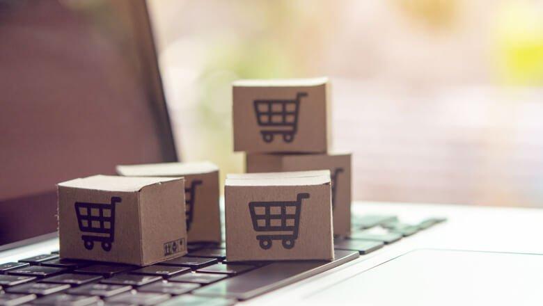 Caixas de papelão para simbolizar rentabilidade marketplace